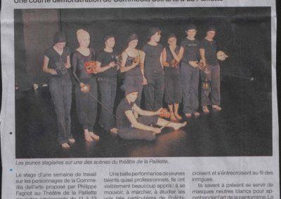 Stage théâtre La Paillette