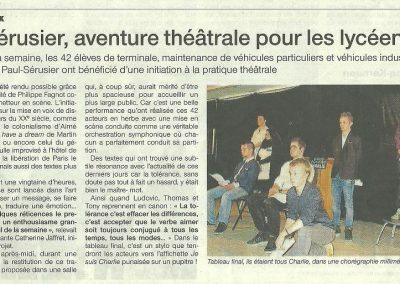 Stage Théâtre lycée