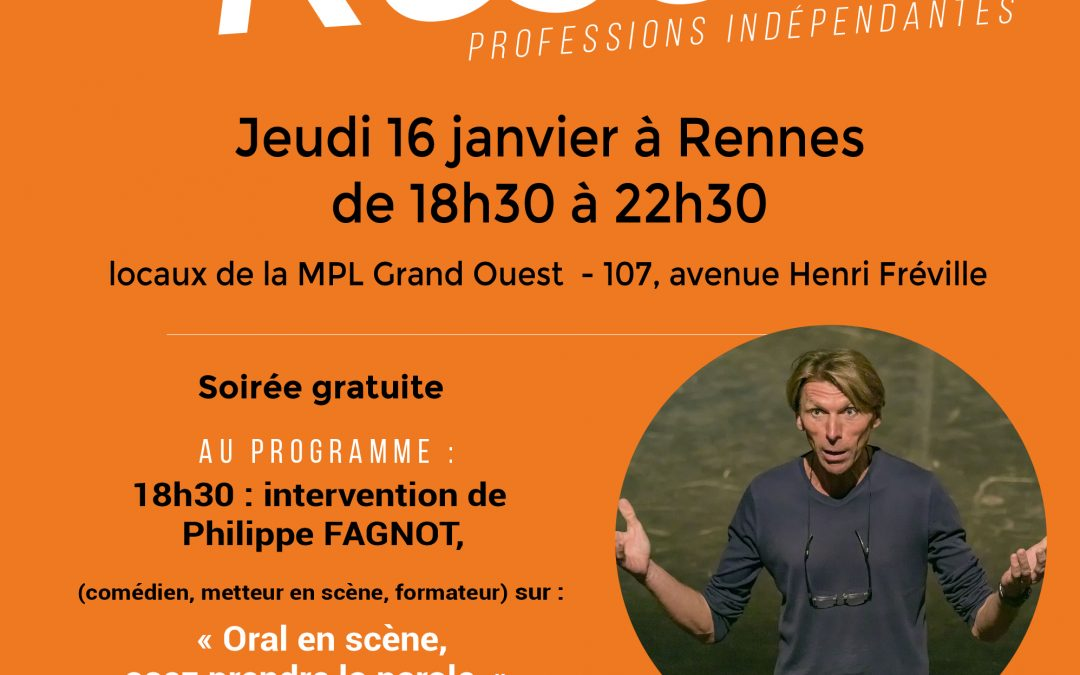 Jeud 16  janvier de 18h30 à 20h00 Conférence Théâtrale Interactive sur l'ART ORATOIRE